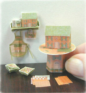 KIT-Miniature-1-48-Scale-Shelf-Apron-amp-Doll-House-designed-by-Jean-Day