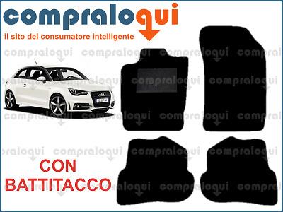 battitacco in Gomma Bordo in Ecopelle MTC Tappetini per Audi A1 dal 2010- in Moquette Antracite 4 Clip di Fissaggio