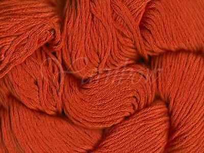 :Illaris #109: 100/% Glossed Pima Cotton yarn Tangerine Mirasol