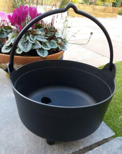 Garland Black Plastic Halloween Witches Cauldron Garden Flower Planter