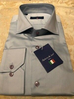 Mens Plain Pale Blue Italian Stylish Slim Fit Shirt (see Others)