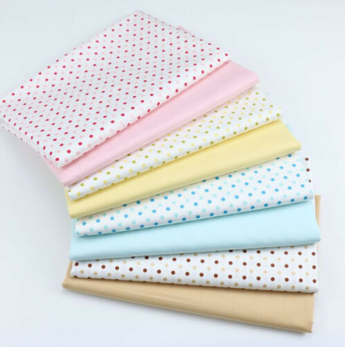 One PCS Cotton Fabric Pre-Cut cloth Fabric for Sewing Circle Dot