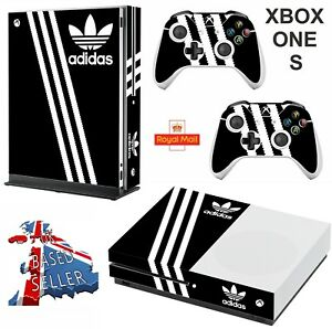 Image is loading ADIDAS-BLACK-amp-WHITE-xbox-one-S-SLIM-