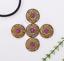 10X-Western-3D-Flower-Turquoise-Conchos-For-Leather-Craft-Bag-Belt-Purse-Decor miniature 8
