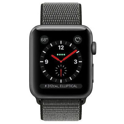Apple Watch 3 - LTE + Cellular - 38mm - ALU GRAU - MQKK2ZD/A - NEUER AUSSTELLER