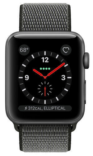 Apple Watch Series 3 42mm Space Gray Aluminium Case with Dark Olive Sport...
