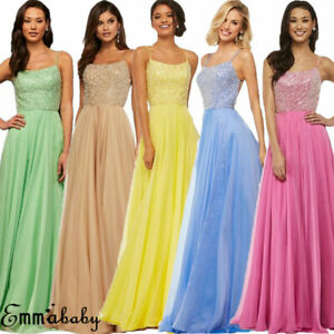 Women-Bridesmaid-Wedding-Long-Dress-Evening-Cocktail-Party-Prom-Gown-Full-Dress