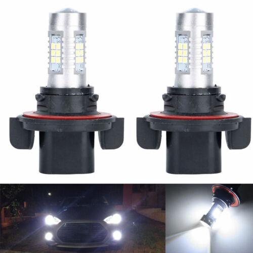 2x 100W LED Headlights Bulbs For Polaris Ranger RZR 570S 800S 900S 1000 XP Turbo