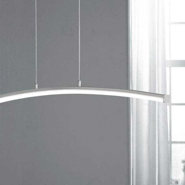 Wofi LED Pendelleuchte Napa 1-flg Nickel gebogen 12 Watt 960 Lumen Büro Loft