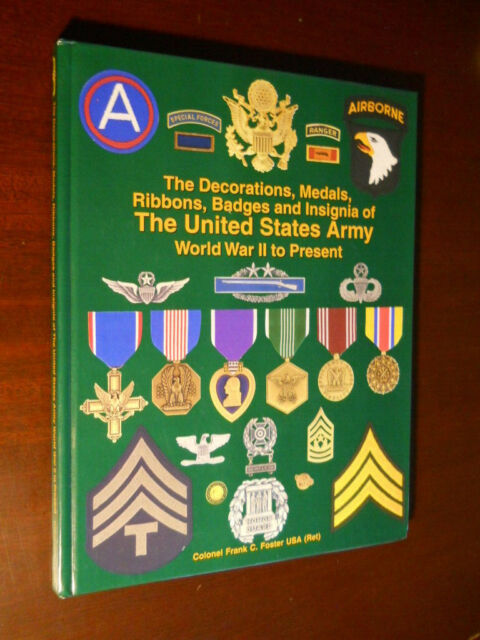 Decorations, Medals, Ribbons, Badges & Insignia of The United States Army 1ST ED
