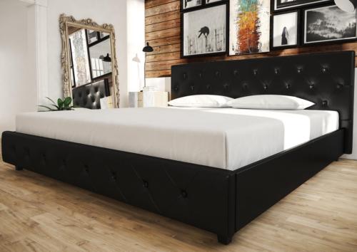 DHP 4175049 Dakota Upholstered Faux Leather Platform Bed wit