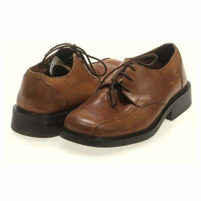 KENNETH COLE REACTION Men's Dress Shoes Block Brown Leather   Size 9.5