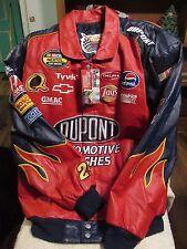 Jeff Hamilton Racing Collection 2XL Jeff Gordon Leather Jacket-Blue & Red w/tag