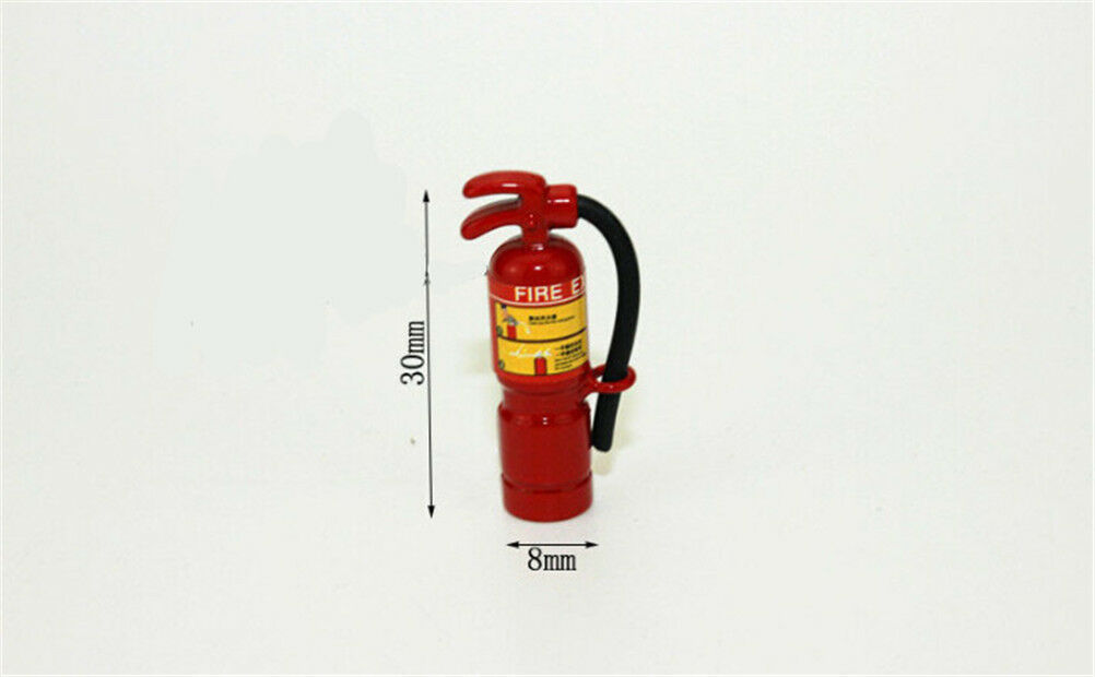 Fire Extinguisher Model Kits 1//12 Doll House Miniature Red Garden Tools