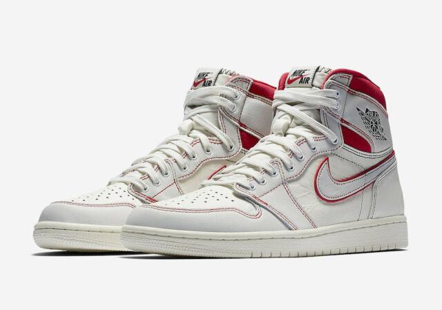 competitive price 31991 89677 2019 Nike Air Jordan 1 Retro High OG SZ 10.5 Sail Phantom Red Black  555088-160