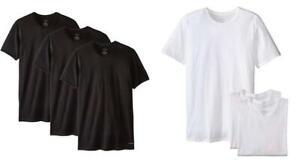 Calvin-Klein-Mens-3-Pack-Undershirts-White-Black-Crew-Neck-T-Shirt-Classic-Fit
