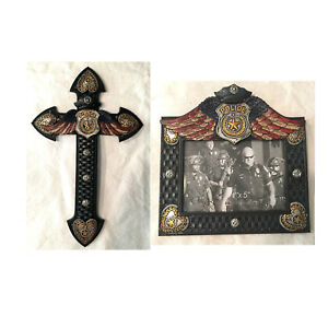 New-Style-Police-PD-Wall-Cross-with-Matching-Photo-Frame-RA5712S