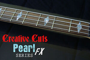 Diamonds RED Fretboard Markers Vinyl Inlay diamond Sticker Decals for ANY BASS