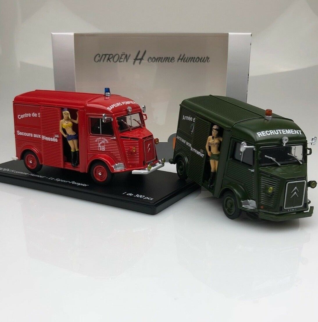 OFFER DUO Set of 2 Citroen HY series  H  as Humor Firefighter+Military 1.43 NB