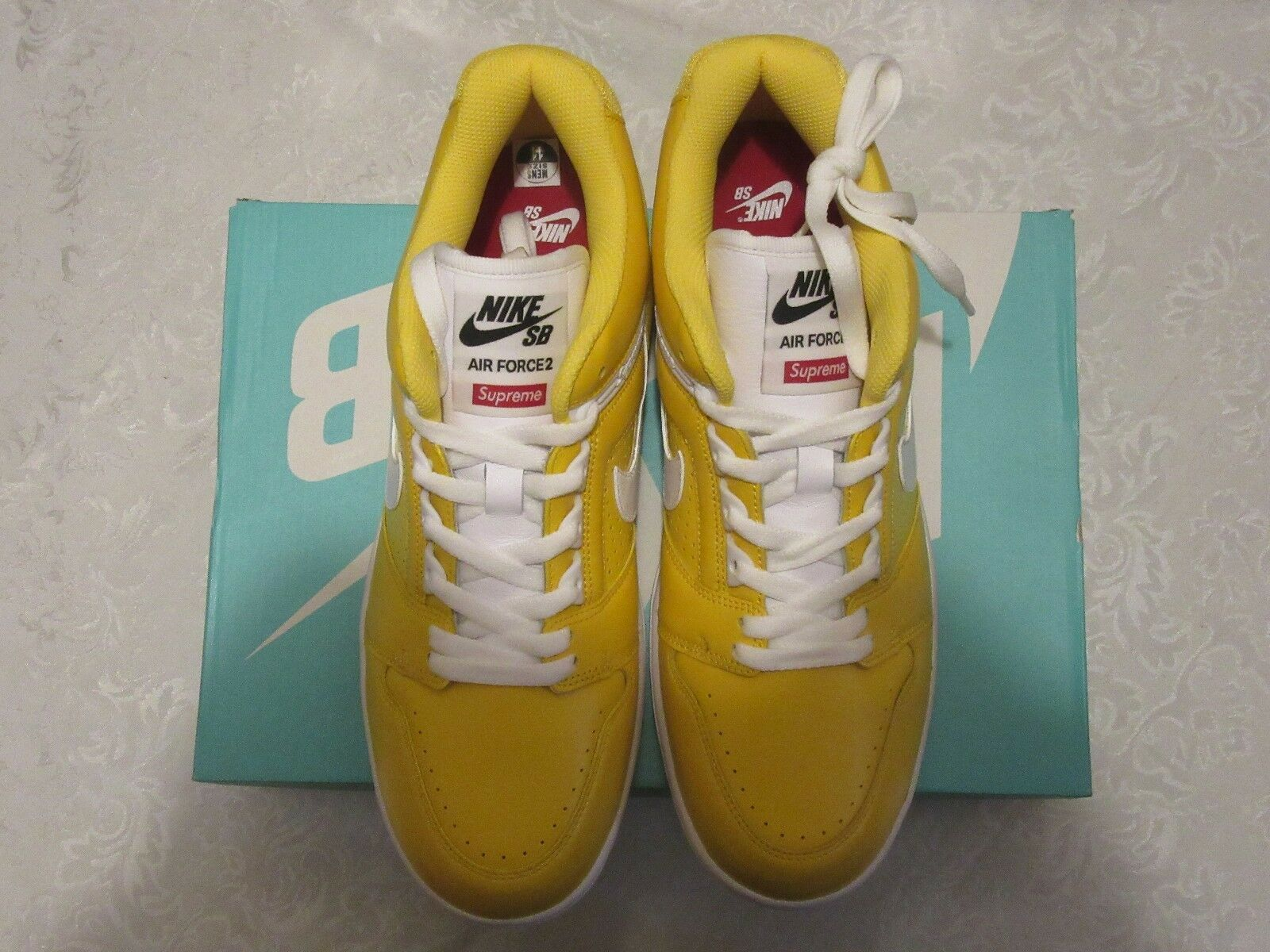 Nike AF2 Supreme SB Low Yellow 2 World Famous Air Force 2 Yellow II AA0871 717 Size 11 73e1cc