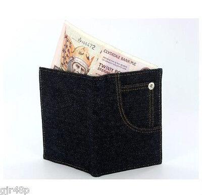 Compiacente Men's Women's Children's Denim Jean Pocket Stile Portafoglio Borsetta Banconote Monete Carte-mostra Il Titolo Originale Rafforza Tendini E Ossa