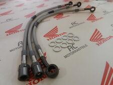 Honda CB 750 Four Stahlflex Bremsleitung Set Titan Doppel Bremsscheibe DE Lenker