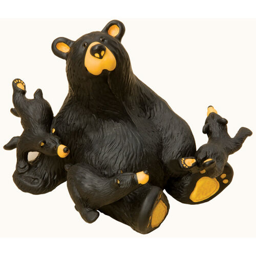 Bearfoots Dirt Bike Bear Figurine by Jeff Fleming Big Sky Carvers