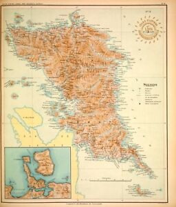 PHILIPPINE-ISLANDS-SAMAR-BATAC-LAGUAN-1899-Original-Antique-Map