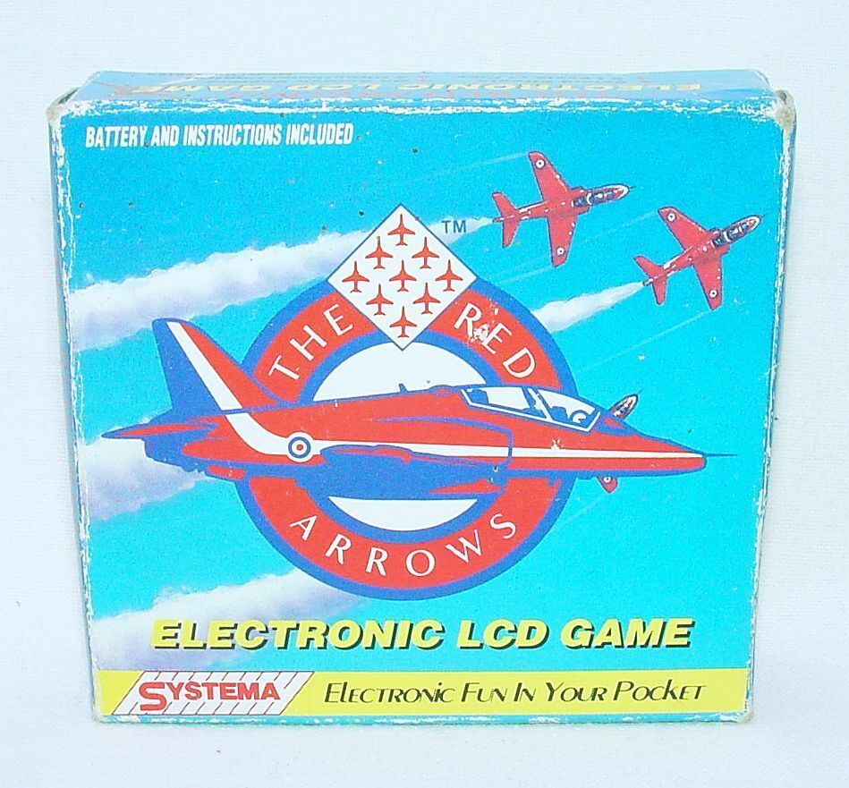 Systema Systema Systema UK England THE RED ARROWS Stunt Plane Electronic LCD Game NMIB`91 RARE  b474d0