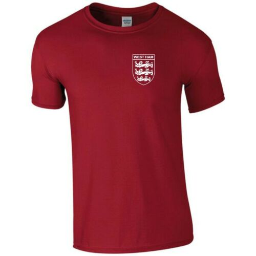WEST HAM 3 LIONS CLUB AND COUNTRY SMALL CREST T-SHIRT MENS