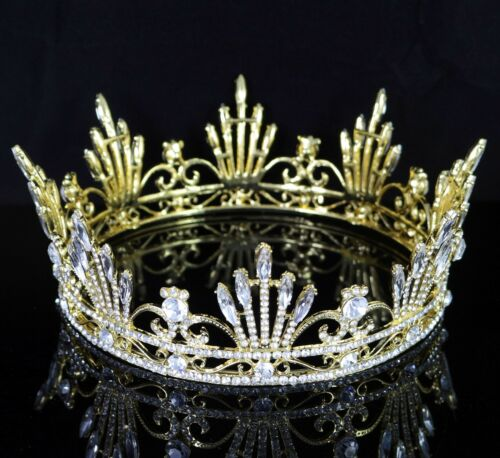 Pageant Queen Clear Austrian Rhinestone Tiara Crown Bridal Wedding Prom T54g