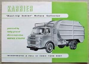 KARRIER DUAL TIP SENIOR REFUSE COLLECTOR Sales Brochure Feb 1963 #1435c