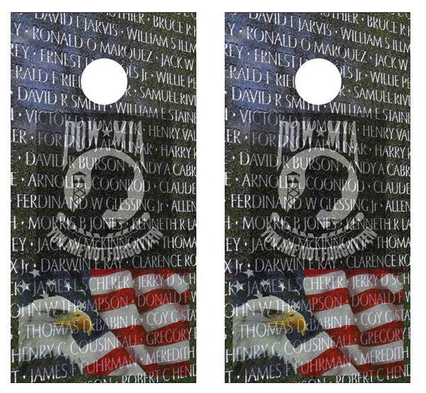 Patriotic Cornhole Board Decal Wraps w FREE APPL SQUEEGEE