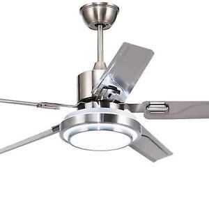 Andersonlight 42 Inch Modern Led Ceiling Fan 5 Stainless Steel