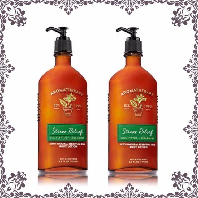 2 Bath Body Works Aromatherapy Stress Relief Eucalyptus Spearmint
