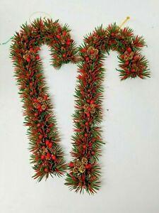 Vintage-plastic-christmas-candy-cane-wreath-wall-decor-12-034