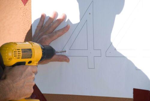 """Modern House Number Black Color Aluminum Modern Font Number THREE /""""3/"""""""