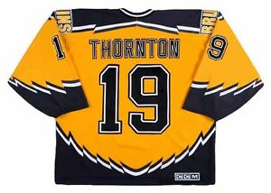 wholesale dealer ffc7a 15394 Details about JOE THORNTON Boston Bruins 2003 CCM Throwback Alternate NHL  Hockey Jersey