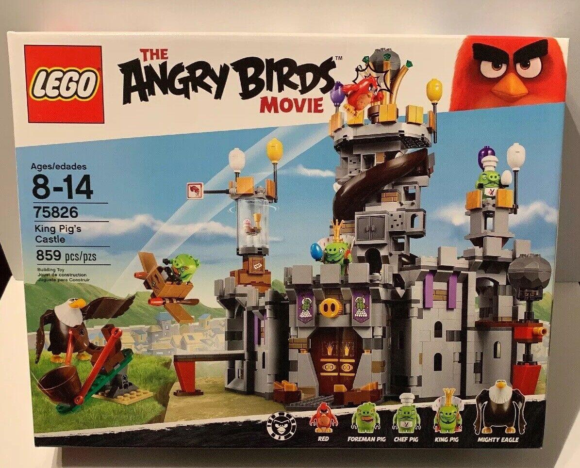 Retraité  Set de 2016 par LEGO 75826 Angry Birds King Pig's Castle - 859pcs En parfait état, dans sa boîte  jusqu'à 65% de réduction