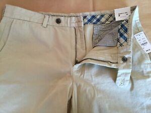X Inseam cotone Brooks Bermuda Brothers Khaki 100 36 New Short 9 YHq8vUqw