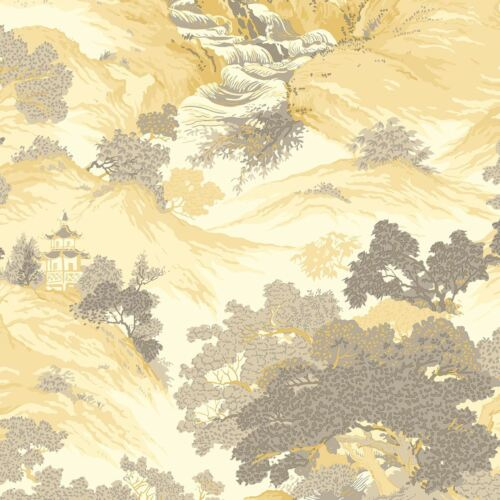 ARCHIVES ORIENTAL LANDSCAPE WALLPAPER YELLOW CROWN M1192 CHINA NEW