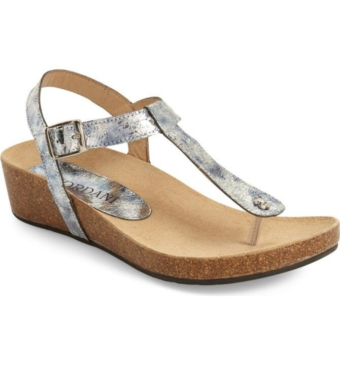NEW Cordani Gene T-Strap Sandals,  plata Leather, mujer Talla 38 (7.5-8 US)  156