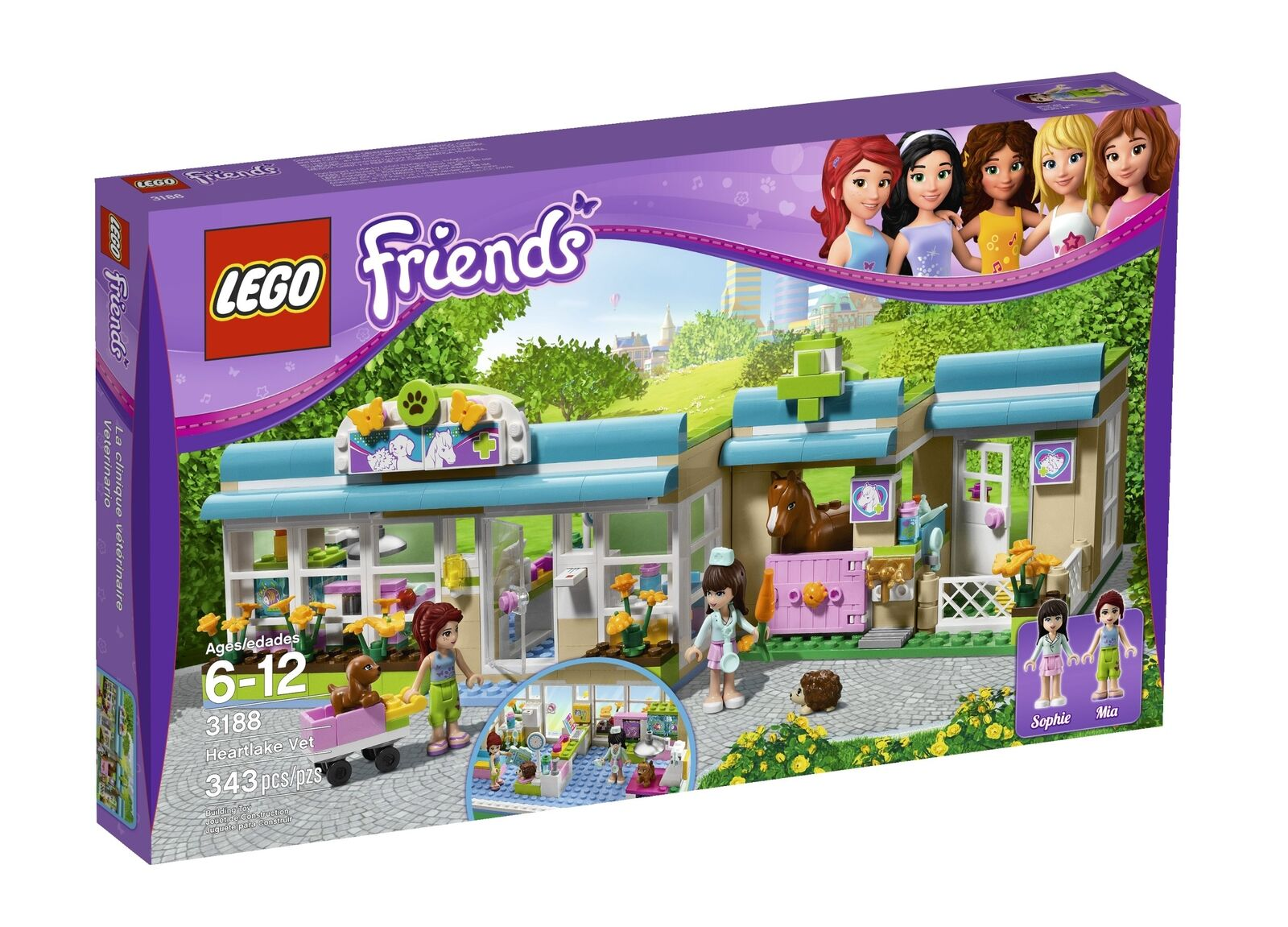 Lego 3188 Friends Heartlake Vet