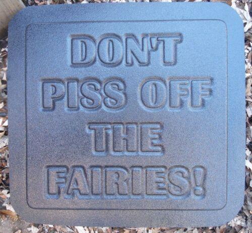 Fairy garden plaque mold  plastic casting concrete plaster mould