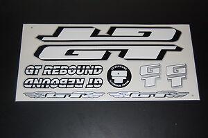 Black /& White. GT Rebound Stickers  Silver