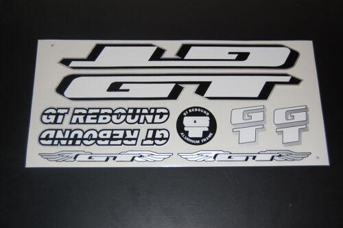 GT rebond autocollants BLANC NOIR /& ARGENT.