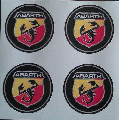 45 mm ajusta a Abarth Fiat 500 500l Rueda de la aleación pegatinas Centro insignia Moldura PAC Hub