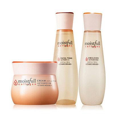 [Etude House] Moistfull Collagen Facial Toner 200ml+Emulsion 180ml+Cream 75ml