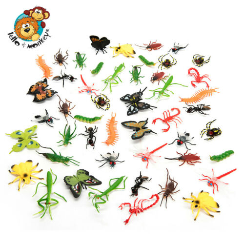 Plastic insects and mini beasts set of 48 for sorting and counting,