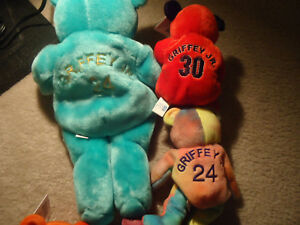23e7b31b608 LOT of 3 Ken Griffey Jr. Beanie Babies Salvino Slammers MLB 1 Large ...